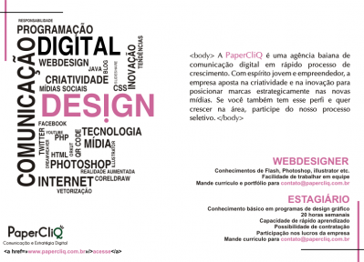 Cartaz - Design